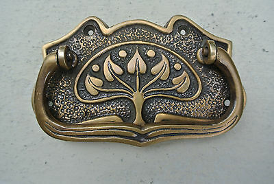 4 DECO cabinet handles solid brass furniture antiques vintage age style 9cmB 4