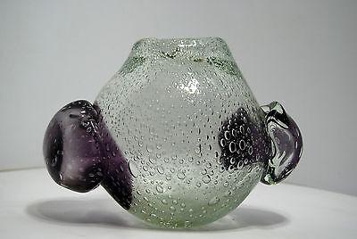 Jarrón Cristal Burbuja Biot Forma de Libre 1960 Aplicaciones Caliente 2
