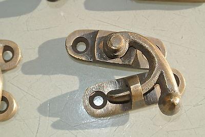 8 tiny small box Latch catch solid brass furniture antiques doors trinket 3 cm B