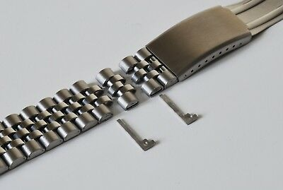 CHOOSE 18mm 20mm OR 22mm JUBILEE LINK WATCH BRACELET. STRAIGHT ENDS.GOOD QUALITY 5