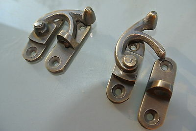 8 Nice medium small box Latch catch solid brass furniture 40 mm doors trinket B 5
