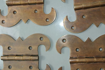 """4 hinges heavy vintage old style cast solid Brass DOOR BOX restore heavy 5"""" B 6"""