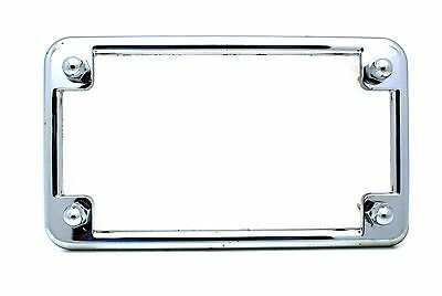chrome motorcycle license plate tag frame custom acorn lic fastener bolts 2