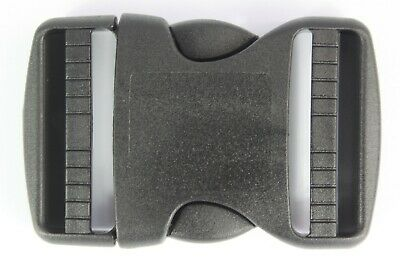 Double Side Release Buckles Black Plastic Clips Rucksacks Replacement All Sizes 2