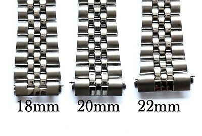 CHOOSE 18mm 20mm OR 22mm JUBILEE LINK WATCH BRACELET. STRAIGHT ENDS.GOOD QUALITY 2
