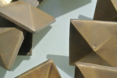 """10 STUDS door solid heavy 100% brass furniture boxes old style 2"""" decor B 9"""