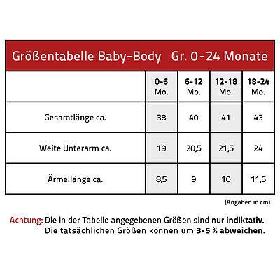 Body Neonato alta qualità tute di qualità 0-24 Mesi Prodotto in St Pauli 09491 2