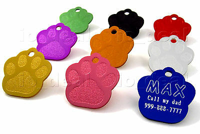 MADE IN USA Pet Tags Custom Engraved Paw ID Tag Dog Tag Cat Quality Free Ship 2