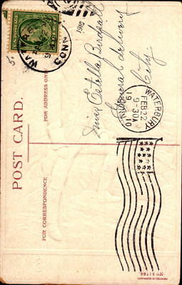 Postcard My Greetings on Washington's Birthday Veentilet 1910 Postmark 2