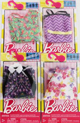 LOT of 7 Genuine Mattel Barbie Doll Dolls Fashion Clothing Clothes Dress Dresses 2