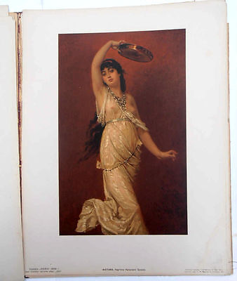 1892 Imperial Russia NIVA ALBUM with 9 Painting Reproductions RARE 7