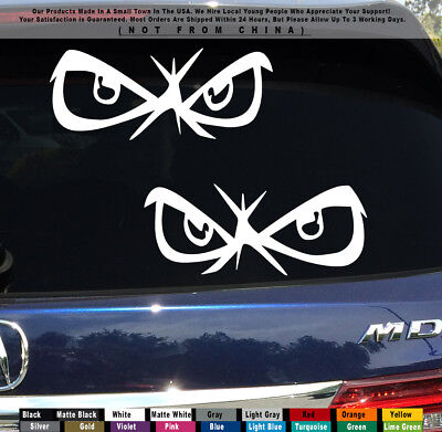 JDM Angry Eyes No Fear Drift Stance Turbo illest Car Jeep Truck Sticker Decal