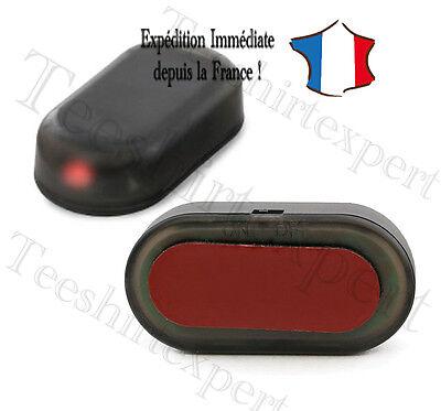 rouge Solaire LED voiture factice factice imitation sécurité antivol Alarme
