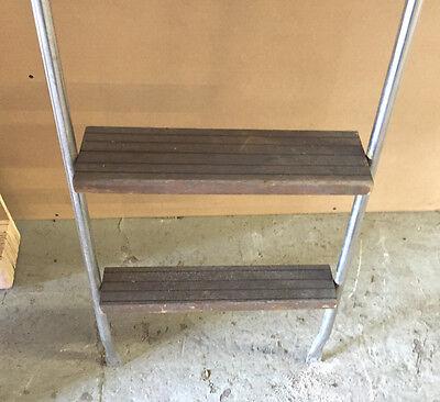 * Teak Wood /& Stainless Marine Boat Ladder And Platform INV#7