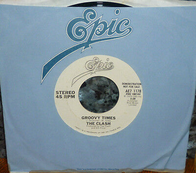 """*<* RARE PROMO-only CLASH! """"GATES OF THE WEST/GROOVY TIMES"""" CLEAN M- GEM 45/SLV!"""