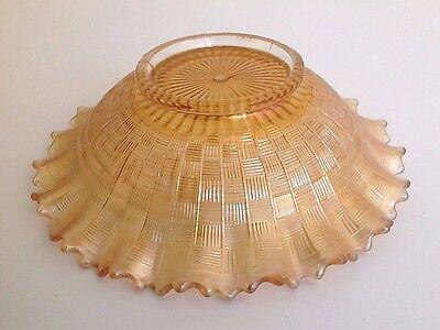 Antique Northwood Greek Key Marigold 9-inch Carnival Glass Plate, Art Glass Bowl 4