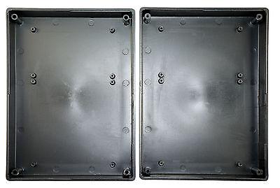 Kunststoff ABS Kleingehäuse Leergehäuse Gehäuse schwarz 63 x 37 x 16 mm