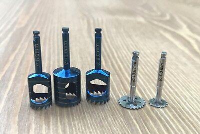 Dental Implant Trephine Drill & Saw Disk Kit 5 Pcs Bone Cutting Surgical Tools 2