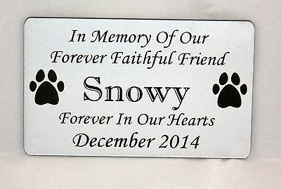 Personalised Engraved Bench Pet Memorial Plaque 2