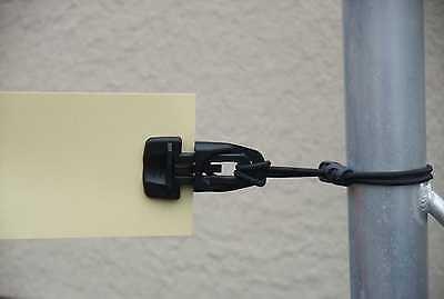 50 x Spannfix-Spann-Klammer schwarz MINI-CLIP Planen-Spanner-Halter-Klipps Clips