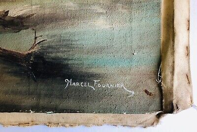 Marcel Fournier Painting Original Antique RARE Appraised $4000 + 2