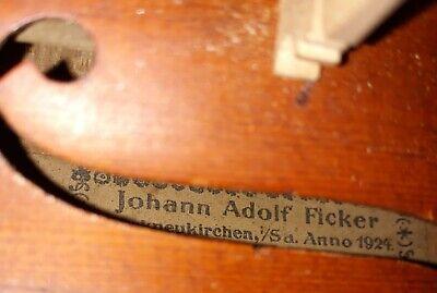 1924 Markneukirchen German Violin Made by Johann Adolf Ficker. Plays beautifull 4