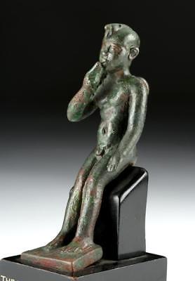Romano-Egyptian Bronze Amulet of Harpocrates Lot 10