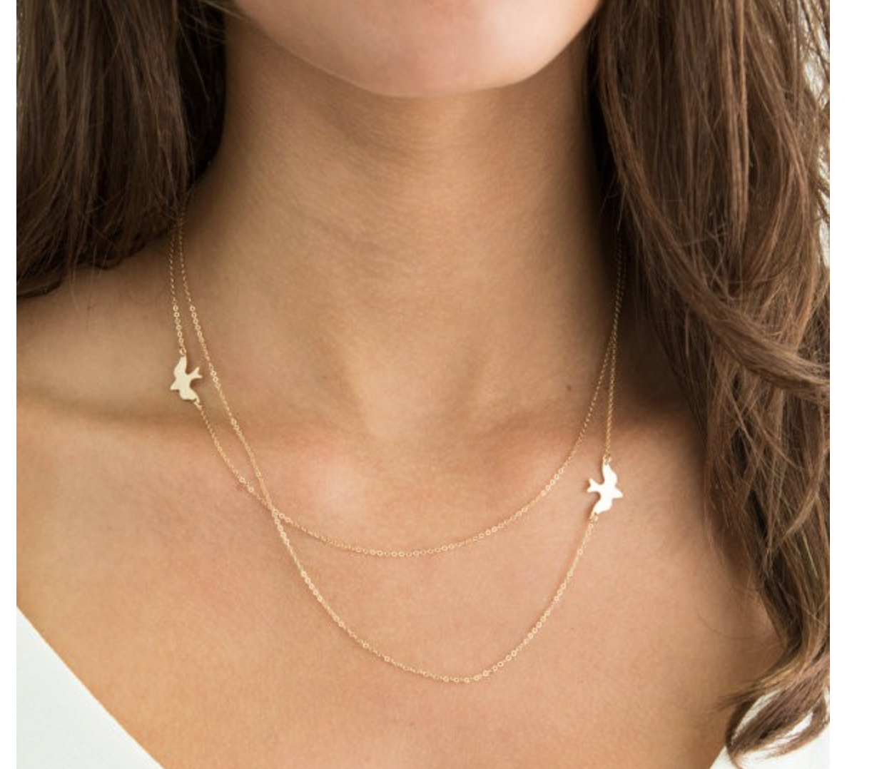 1ce3718d6f53 1 von 2Kostenloser Versand Damen doppel Kette Halskette gold silber Vogel  Bird Tier Style Blogger Freiheit