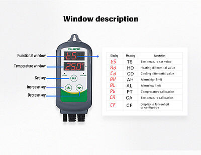AU PLUG 240V Dual Stage ITC-308 digital Temperature Controller Pre-wired water 4