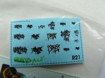 MojeTT Spur TT Set Decals mit Graffiti für Gestaltung von Waggons Mauern Häusern 3