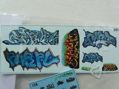 MojeTT Spur TT Set Decals mit Graffiti für Gestaltung von Waggons Mauern Häusern 2