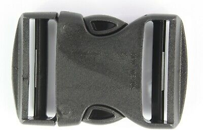 Double Side Release Buckles Black Plastic Clips Rucksacks Replacement All Sizes 3