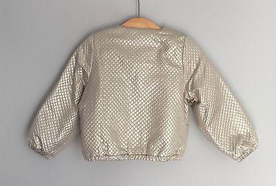 No Added Sugar Girls Amazing Gold Bomber Jacket Size 2-3 Years BNWT 2