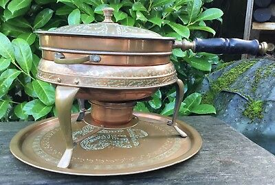 Old Vintage Middle Eastern Persian Islamic Darius Tin Lined Copper Cooking Set 3