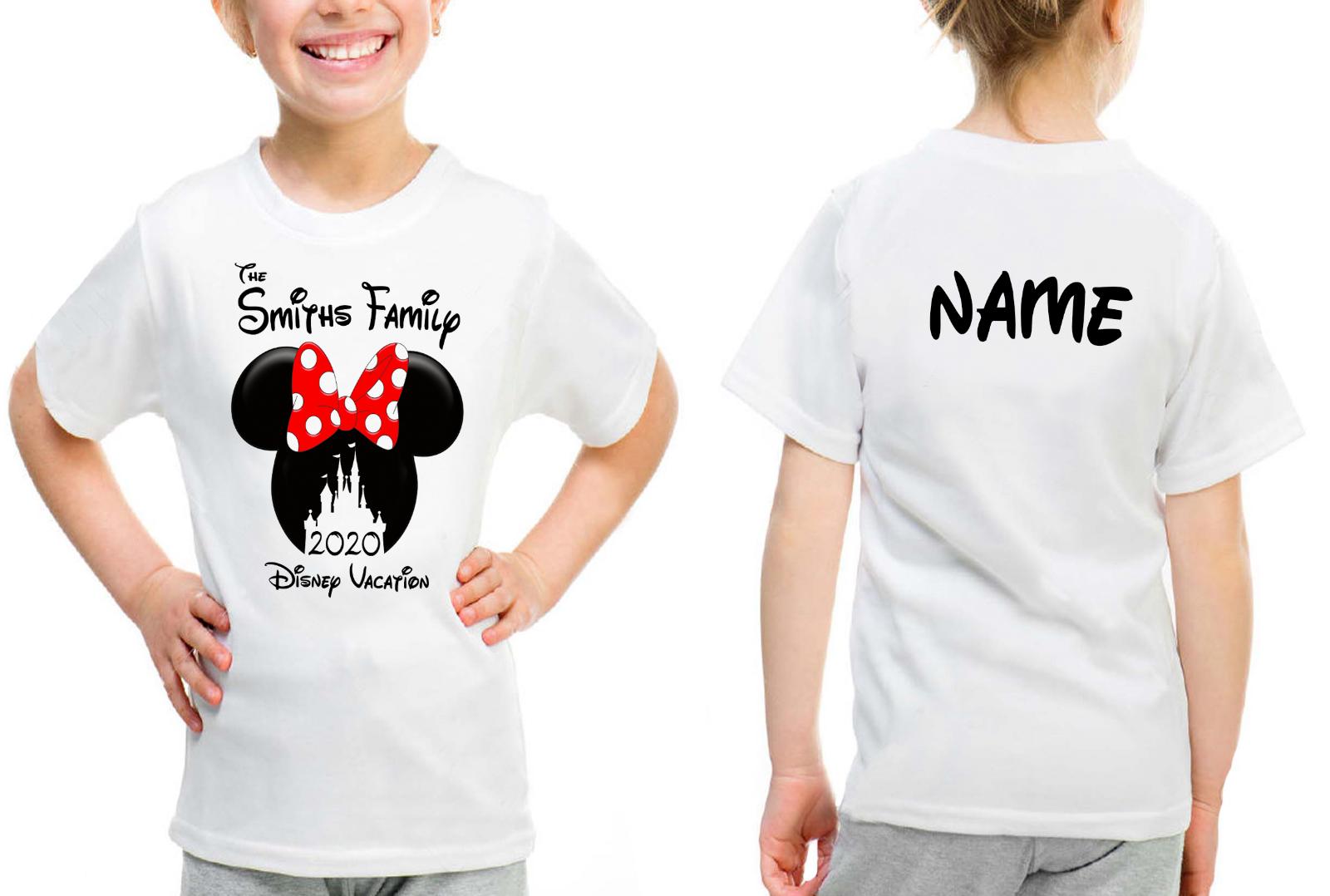 Personalised Minnie Mickey Mouse Disney 2020 Vacation T-Shirt Florida/Paris 2