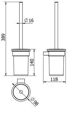 Ersatzbürste Klobürste Austauschbürste nur für M100 * WC Bürste Diana M 100