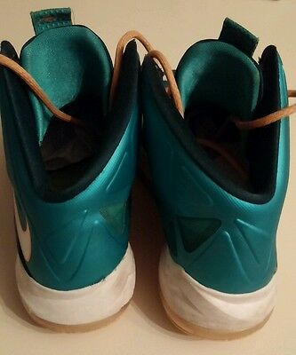 bed7a1614a6c ...  199 Nike Lebron X GS Dolphins 543564-302 Atomic Teal Orange Kids BOYS  YOUTH 6
