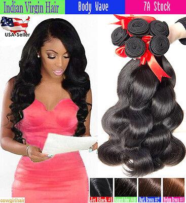 Brésilien Indien Ondulé Cheveux Humain Tissage Virgin Remy Coudre en Corps Vague 5