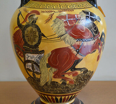 Achilles - Poseidon & Goddess Athena - Amphora Vase - Museum Replica 2