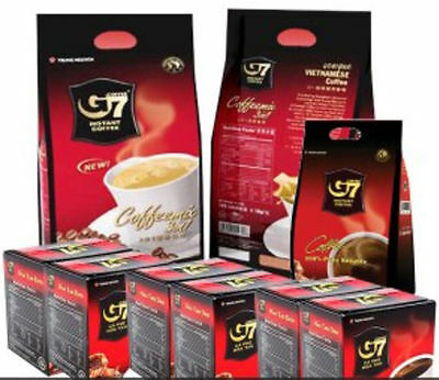 G7 Pure Black Instant Coffee 100 SACHETS Trung Nguyen Vietnamese Coffee 2