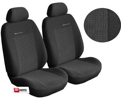 FORD FIESTA MK7 11+ HEAVY DUTY WATERPROOF BLACK CAR VAN SEAT COVERS PAIR 1+1