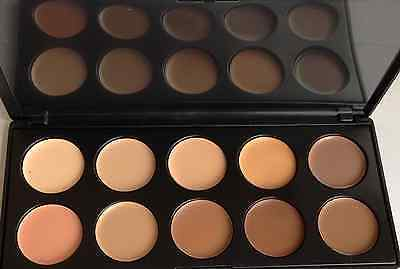10 Color Face Cream Contour Makeup Set Concealer Palette Highlighter And Brush , 2