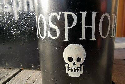APOTHEKER - ORIGINAL PHOSPHOR - BEHÄLTNIS aus METALL mit GEFÄß - SELTENST!!!! 6