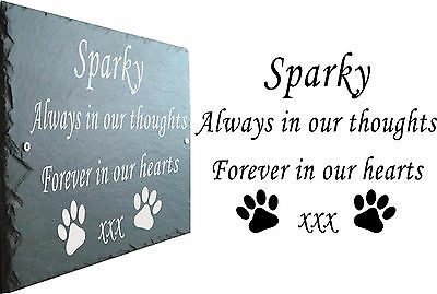 Border Collie Pet Memorial Slate Sign Plaque - Personalised to your requirements