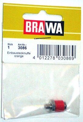 Brawa 3080–Accessorio Elettrico Boccola Da Pannello-Colori Assortiti 6