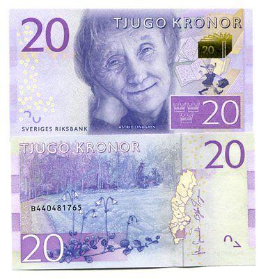 Sweden 20 Kronor Nd(2015) P-New Unc Lot 10 Pcs