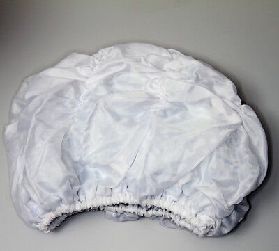 vintage Damen Bade Mütze Kappe Haube 80er weiss gebraucht dünn #108