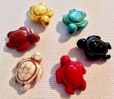 Perlen - 21 Steinschildkröten Bunt 20 X 15 Mm (50/1) 2