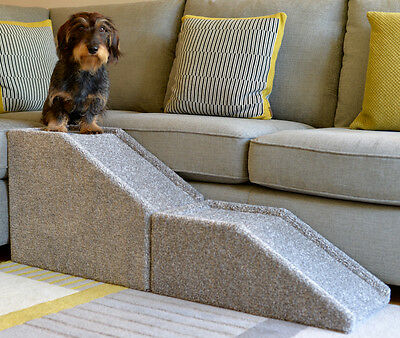 2 Sur 12 Dog Ramp Handmade Indoor Pet Cat Bed Sofa Steps Stairs Portable Lightweight