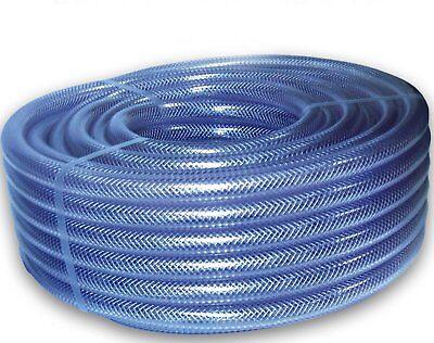 TUBO in PVC trasparente flessibile rinforzato intrecciato-FOOD GRADE Olio//Acqua Tubo di